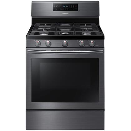 "Samsung Appliance NX58 30"" Freestanding Gas Range with 5.8 cu. ft. Convection Oven, 5 Sealed Burners, Self Clean, Auto Shut Off and Griddle in"
