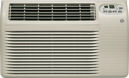 GE AJCQxACF Through-the-Wall Air Conditioner with x Cooling BTU, 5-15P Plug Type, in Soft Grey