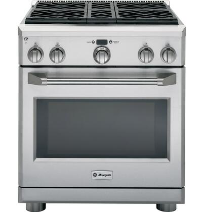 "GE Monogram ZDP304LPSS 30"" Gas Freestanding Range with Sealed Burner Cooktop, 5.3 cu. ft. Primary Oven Capacity, in Stainless Steel"