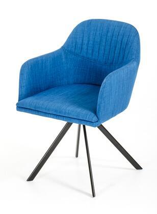 VIG Furniture VGEUMC8112CHABLU Modrest Synergy Series Modern Fabric Metal Frame Dining Room Chair