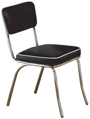 """Coaster Cleveland 21"""" Side Chairs with Chrome Plated Legs and Leatherette Upholstery in"""