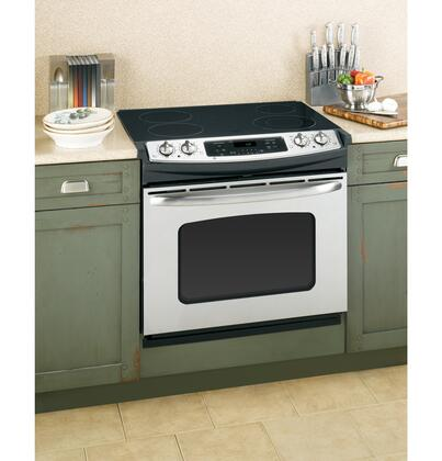 GE JDP42STSS Profile Series Slide-in Electric Range with Smoothtop Cooktop 4.4 cu. ft. Primary Oven Capacity