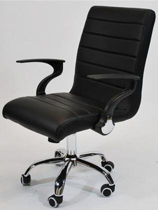 "Fine Mod Imports FMI9258BLACK 25"" Adjustable Contemporary Office Chair"