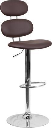 Flash Furniture CH112280BRNGG Residential Vinyl Upholstered Bar Stool