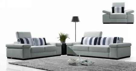 VIG Furniture 1013SOFASET Contemporary Fabric Living Room Set