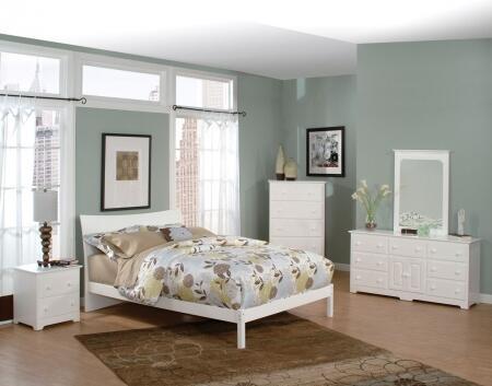 Atlantic Furniture SSOHOFPFQUEENWH Soho Series  Queen Size Bed