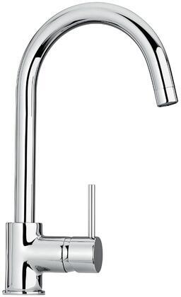 Jewel Faucets 25572XX Single Hole Kitchen Faucet with Goose Neck Spout