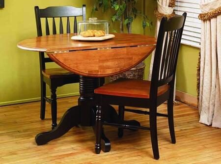 "AAmerica 6100 British Isles 42"" Dropleaf Table with Wood on Wood Glides, 20% NC Top Coat Sheen and Solid Hardwood Construction in"