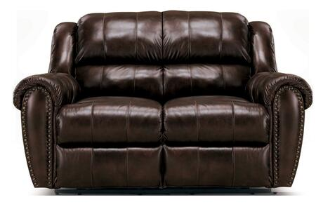 Lane Furniture 21429174597533 Summerlin Series Leather Reclining with Wood Frame Loveseat