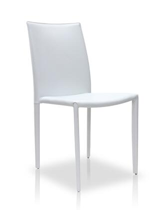 Modloft MD605WHT Varick Series Modern Leather Metal Frame Dining Room Chair