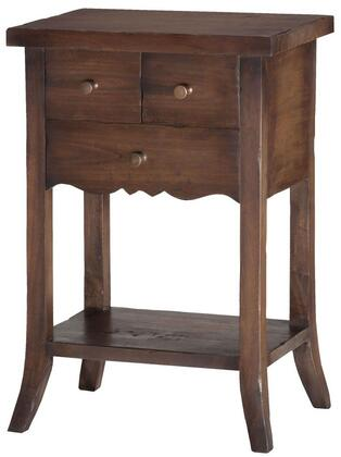 Sterling 7011027 East Hampton Series Transitional Wood Rectangular 3 Drawers End Table