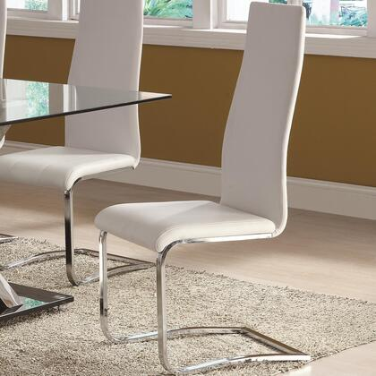 Coaster 100515WHT Modern Dining Series Contemporary Vinyl Metal Frame Dining Room Chair