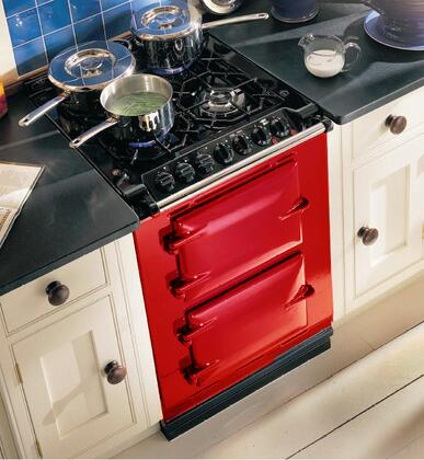 "AGA ACMPNGSIPBR 24"" Companion Series Dual Fuel Freestanding Range with Sealed Burner Cooktop, 1.5 cu. ft. Primary Oven Capacity, in Red"