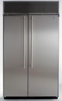 Northland 36SSSB  Counter Depth Side by Side Refrigerator with 23.0 cu. ft. Capacity in Black Door Panels