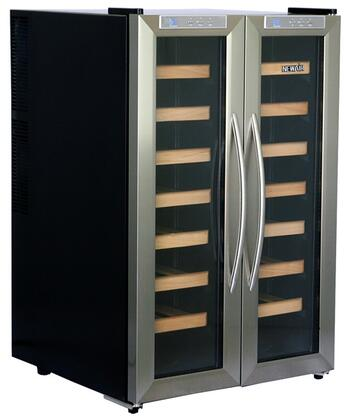 "NewAir AW321ED 21.5"" Freestanding Wine Cooler, in Silver"