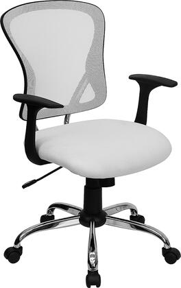 "Flash Furniture H8369FWHTGG 22.25"" Contemporary Office Chair"