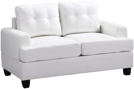 Glory Furniture G587AL Bycast Leather Stationary Loveseat
