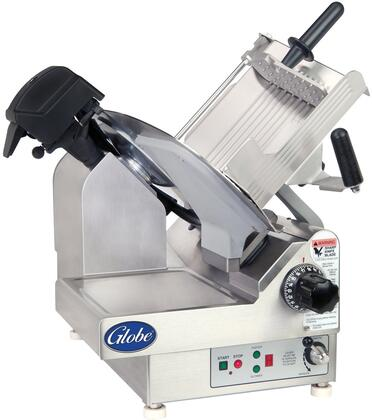 "Globe 3XXXNF N Series 13"" Premium Slicer with PreciseEdge Knife, Adjustable Slicing Table, High-Performance Gear Drive System and Precision Gear Slice Thickness Adjustment in Stainless Steel"