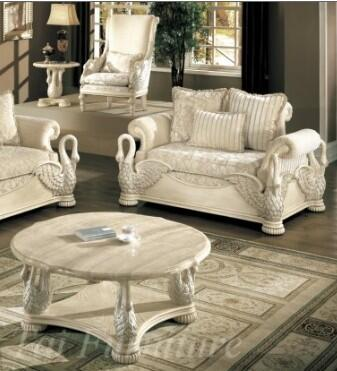 Yuan Tai AV7130L Avignon Series Fabric  with Wood Frame Loveseat