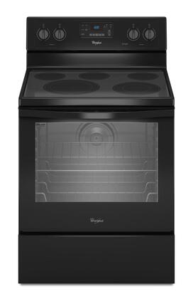 "Whirlpool WFE540H0 30"" Freestanding Electric Range with 6.4 cu. ft. Capacity, AquaLift Self-Cleaning Technology, Hidden Bake, Convection, and Easy Wipe Ceramic Glass in"