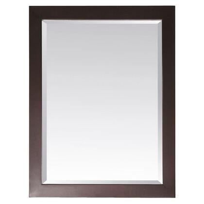 "Avanity MODERO-M28-X Modero 28"" Mirror, with Beveled Edge, Wall Cleat For Hanging, and Rectangular Edge"