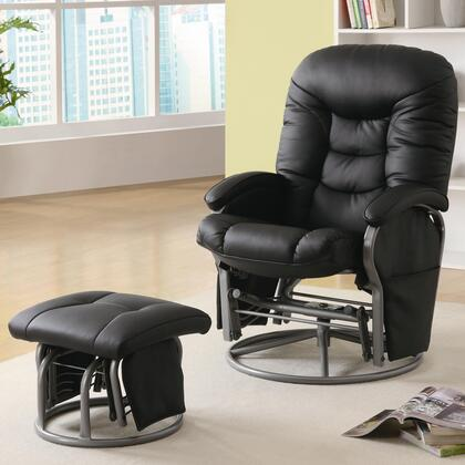 Coaster 60022 Glider Plush Recliner With Ottoman by Coaster Fine Furniture