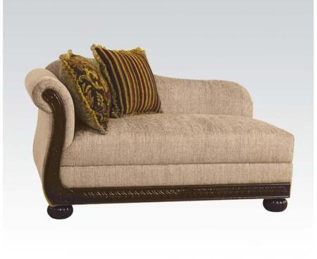 Acme Furniture 52363 Rachell Series Contemporary Fabric Wood Frame Chaise Lounge