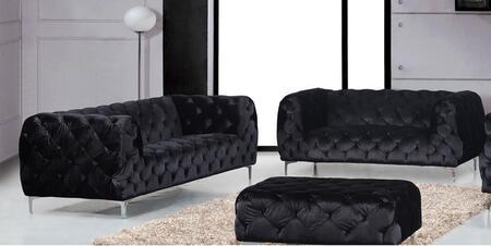 Meridian 646BLSL Mercer Living Room Sets