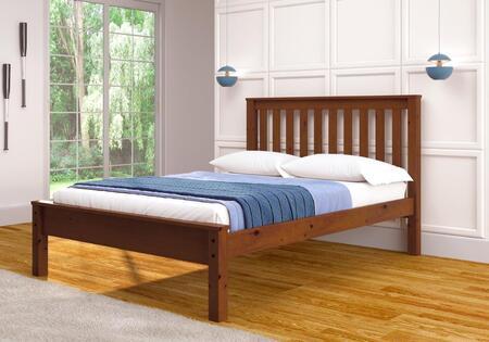 Donco 500E Contempo Wood Bed: Espresso