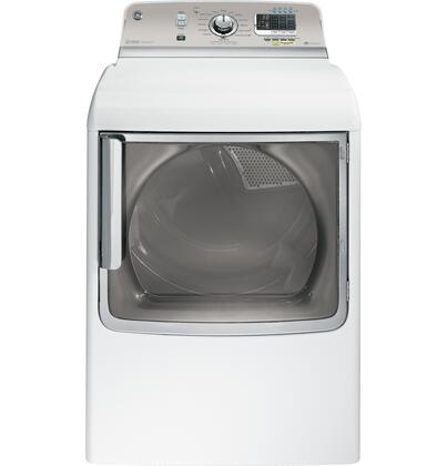 """GE GTDS850XDWS 28"""" Front Load Dryer With Steam Select, Steam Refresh, Steam Dewrinkle, HE SensorDry, CleanSpeak Communication System, My Settings, 5 Heat Selections in White"""