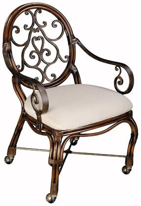 Ambella 00803700001  White Wood Frame Accent Chair