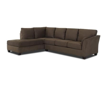 "Klaussner Drew Collection E16-SECT- 118"" Sectional with Arm Sofa and Arm Chaise in"