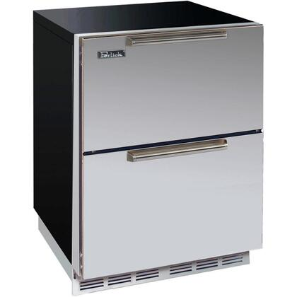 Perlick HA24RB5DNU ADA Compliant Series Compact Refrigerator with 4.3 cu. ft. Capacity in Stainless Steel