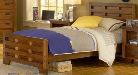 American Woodcrafters 180046CPB  Full Size Captains Bed