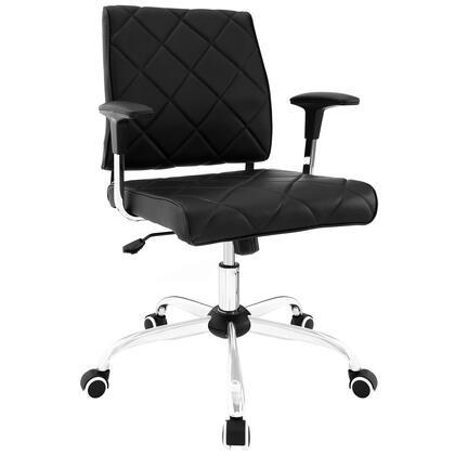Modway EEI-1247 Lattice Vinyl Office Chair with Modern Design, Padded Vinyl, Chrome Base, Height and Tilt Adjustable