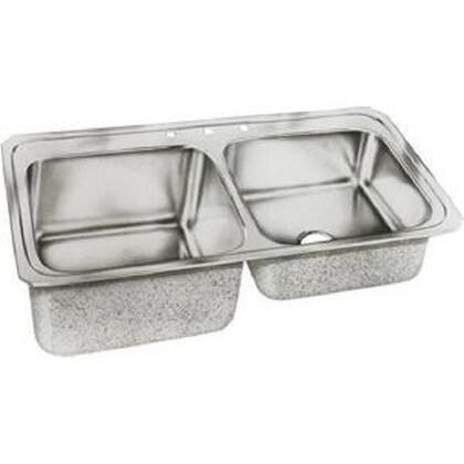 "Elkay STCR3322R Gourmet Celebrity Stainless Steel 33"" x 22"" Double Basin Top Mount Kitchen Sink"