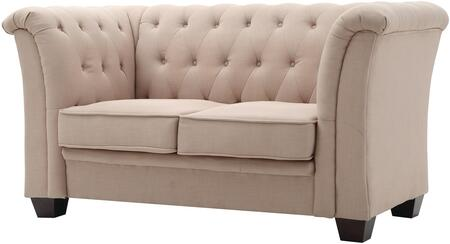 """Glory Furniture 64"""" Loveseat with Mid Century Design, Tufted Design, Removable Arms and Upholstery in"""