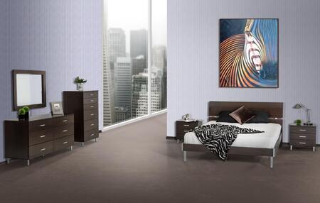 VIG Furniture VGDEB1002WGEFDMCN Modrest Bravo Full Bedroom S