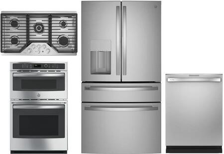 GE Profile 1139062 4 piece Fingerprint Resistant Stainless Steel Kitchen  Appliances Package