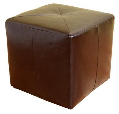 Wholesale Interiors ST20BROWNOTTOMAN Aric Series Contemporary Bonded Leather Ottoman