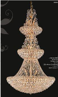 """J & P Crystal Lighting Firework Collection 99005D42 42"""" Wide Chandelier in X Finish"""