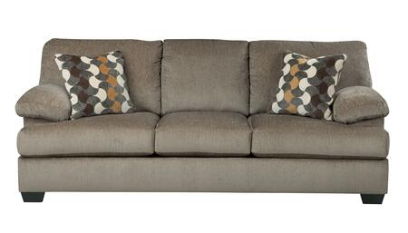 Benchcraft Kenzel 2040X38 Sofa with 2 Decorative Pillows, Thick Padded Arms and Loose Seat Cushions in