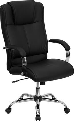 """Flash Furniture BT-9080-XX-GG 19.25"""" High Back Leather Executive Office Chair with Integrated Headrest, Chrome Finished Base, Pneumatic Seat Height Adjustment, and Dual Wheel Casters"""