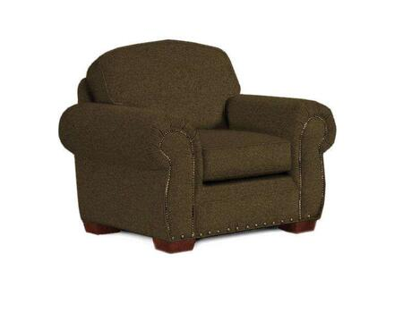 """Broyhill Cambridge Collection 5054-0QX 47"""" Chair with Fabric Upholstery, Rolled Arms, Nail Head Trim and Casual Style"""