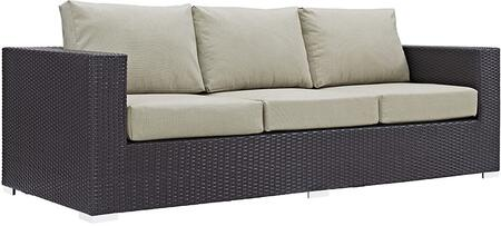 Modway EEI1844EXPBEI Espresso Finish Patio Sofa