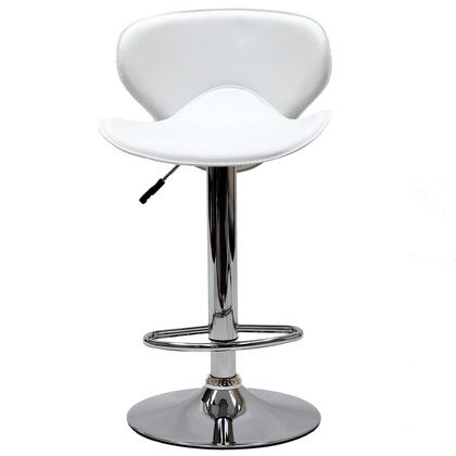 Modway EEI580WHI Booster Series Residential Faux Leather Upholstered Bar Stool