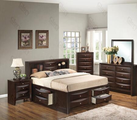 Glory Furniture G1525GKSB3DMN G1525 King Bedroom Sets