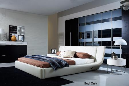 VIG Furniture VGWCC175A Modrest Arctic - Modern Bed With Speakers and iPhone Audio Dock