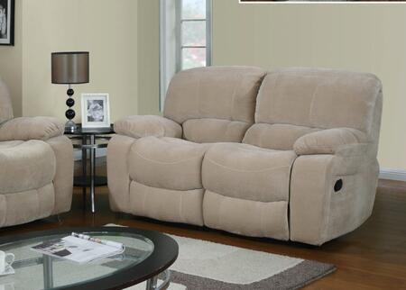 Global Furniture USA U2007L Fabric Reclining with Wood Frame Loveseat
