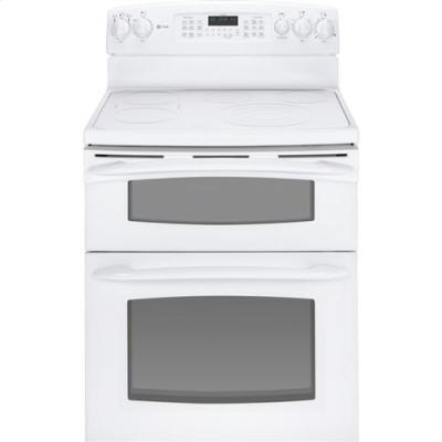 GE PB975TTWW Profile Series Electric Freestanding Range with Smoothtop Cooktop, 4.4 cu. ft. Primary Oven Capacity, Oven in White